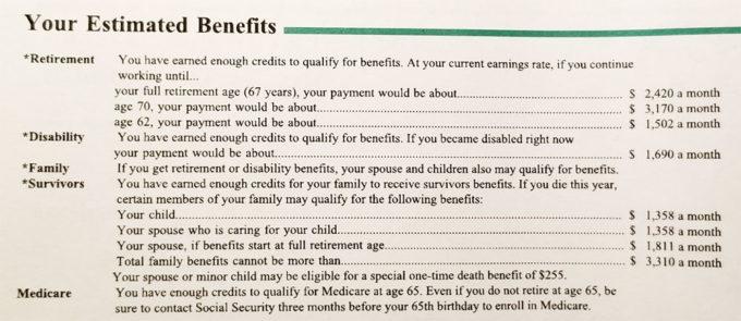 Американский Social Security Statement