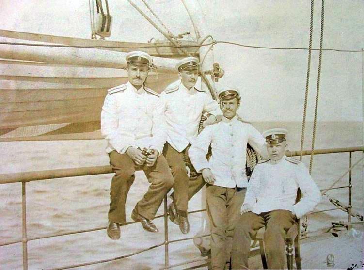 Группа офицеров царского флота